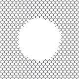 Иллюстрация загородки звена цепи при отверстие изолированное на белой предпосылке Барьер тюрьмы, обеспеченное свойство бесплатная иллюстрация
