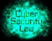 Иллюстрация законодательства цифров закона безопасностью кибер 2d Бесплатная Иллюстрация