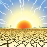 Иллюстрация засухи Стоковые Изображения RF
