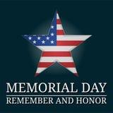 Иллюстрация звезды Дня памяти погибших в войнах Стоковые Изображения RF