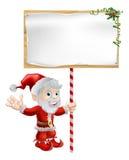 Иллюстрация знака рождества Санта иллюстрация вектора