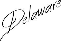 Иллюстрация знака текста Делавера Стоковое фото RF