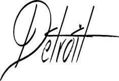 Иллюстрация знака текста Детройта Стоковое Изображение