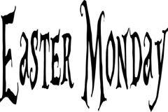Иллюстрация знака текста пасхи понедельника Стоковые Изображения