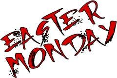 Иллюстрация знака текста пасхи понедельника Стоковая Фотография RF