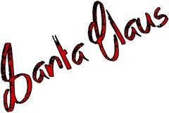 Иллюстрация знака текста Санта Клауса Стоковое Фото