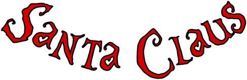 Иллюстрация знака текста Санта Клауса Стоковые Изображения RF