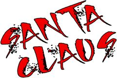 Иллюстрация знака текста Санта Клауса Стоковые Фотографии RF