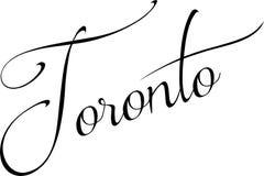 Иллюстрация знака текста Торонто Стоковое Изображение RF