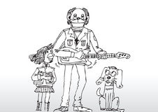 Иллюстрация игрока гитары Стоковые Фотографии RF