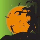 Иллюстрация изверга для карточки invitaion хеллоуина стоковые изображения
