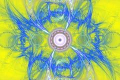 Иллюстрация изображения искусства фрактали математически произведенная алгоритмом может проиллюстрировать illustratio вселенной г Стоковые Изображения