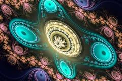 Иллюстрация изображения искусства фрактали математически произведенная алгоритмом может проиллюстрировать illustratio вселенной г Стоковое Изображение