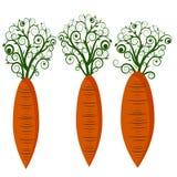 Иллюстрация изолированная морковью стоковое изображение