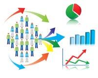 Иллюстрация изучения рыночной конъюнктуры и статистик Стоковое фото RF