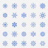 иллюстрация иконы изолировала установленную белизну вектора снежинки 25 значков вектора пакуют иллюстрация вектора
