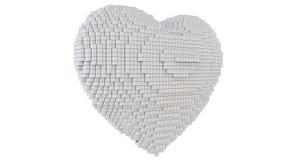 Иллюстрация искусства пиксела 3d сердца Бесплатная Иллюстрация
