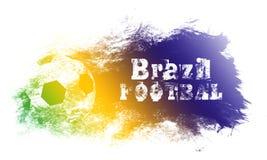Иллюстрация искусства футбола Бразилии Футбол стиля улицы графический Печать моды стильная Одеяние шаблона, карточка, ярлык, плак Стоковые Фотографии RF