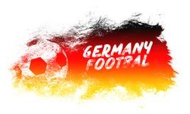 Иллюстрация искусства футбола Германии Футбол стиля улицы графический Печать моды стильная Одеяние шаблона, карточка, ярлык, плак Стоковое Фото