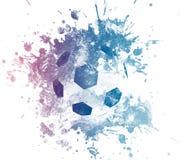 Иллюстрация искусства футбола Футбол стиля улицы графический Печать моды стильная Одеяние шаблона, карточка, ярлык, плакат эмблем Стоковые Изображения RF