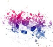 Иллюстрация искусства футбола Футбол стиля улицы графический Печать моды стильная Одеяние шаблона, карточка, ярлык, плакат эмблем Стоковые Фото