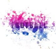 Иллюстрация искусства футбола Футбол стиля улицы графический Печать моды стильная Одеяние шаблона, карточка, ярлык, плакат эмблем Стоковое Изображение