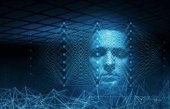 Иллюстрация искусственного интеллекта схематическая цифровая бесплатная иллюстрация