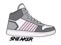 Иллюстрация и логотип ботинок спорта бесплатная иллюстрация