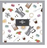 Иллюстрация картины кафа кофе Стоковое Фото