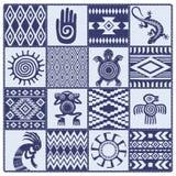 Иллюстрация картин и символов коренных американцев этнических Стоковая Фотография