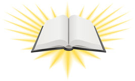 иллюстрация книги святейшая открытая Стоковые Фото