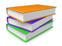 Иллюстрация книг 3d цветов Стоковое Изображение RF