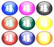 иллюстрация кнопки Стоковые Изображения RF