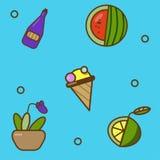 Иллюстрация коллажа продуктов бесплатная иллюстрация