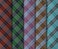 Иллюстрация комплекта безшовных цветастых нашивок Стоковые Изображения RF