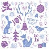 Иллюстрация комплекта рождества Стоковая Фотография