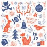 Иллюстрация комплекта рождества Стоковое Изображение RF