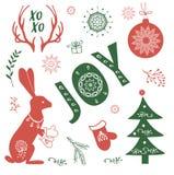 Иллюстрация комплекта рождества Стоковые Фотографии RF