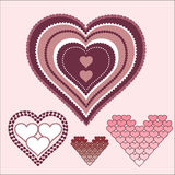 Иллюстрация конструкции сердца Стоковая Фотография RF