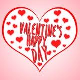 Иллюстрация концепции дня ` s валентинки с символом сердца соответствующим для рекламировать и продвижения Счастливые день валент бесплатная иллюстрация