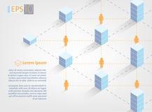 Иллюстрация концепции технологии цепи блока - blockchain - бесплатная иллюстрация