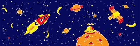 Иллюстрация космоса чертежа руки Стоковое Фото