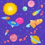 Иллюстрация космоса шаржа Стоковое Изображение