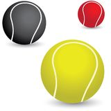 Иллюстрация красивейших цветастых теннисных мячей Стоковое Изображение