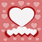 Иллюстрация красных и белых сердец Стоковая Фотография RF