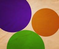 иллюстрация круга предпосылки ретро Стоковые Фотографии RF