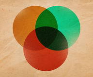 иллюстрация круга предпосылки ретро Стоковое Фото
