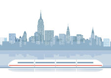 Иллюстрация курьерского поезда иллюстрация вектора