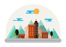 Иллюстрация ландшафта города Стоковые Фото