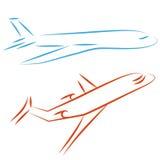 иллюстрация летания самолета Стоковые Изображения RF